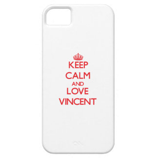 Guarde la calma y ame a Vincent iPhone 5 Case-Mate Cobertura