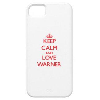 Guarde la calma y ame a Warner iPhone 5 Funda