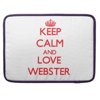 Guarde la calma y ame a Webster Funda Para Macbooks