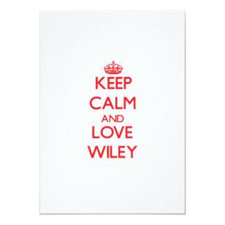 Guarde la calma y ame a Wiley Invitacion Personal