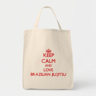 Guarde la calma y ame al brasilen@o Jiu-Jitsu Bolsas