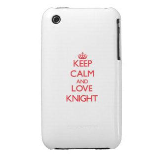 Guarde la calma y ame al caballero iPhone 3 cobreturas