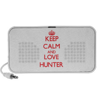 Guarde la calma y ame al cazador altavoz