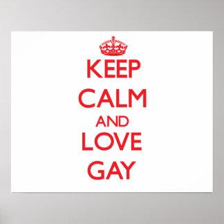 Guarde la calma y ame al gay impresiones