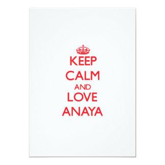 """Guarde la calma y ame Anaya Invitación 5"""" X 7"""""""