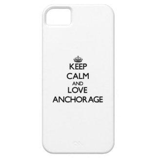 Guarde la calma y ame Anchorage iPhone 5 Case-Mate Fundas