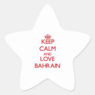 Guarde la calma y ame Bahrein Calcomanías Forma De Estrella Personalizadas