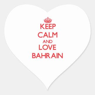 Guarde la calma y ame Bahrein Colcomanias Corazon