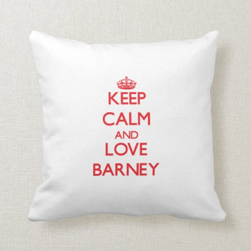 Guarde la calma y ame Barney Almohadas