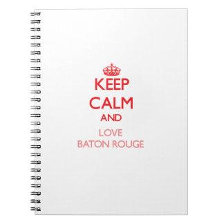 Guarde la calma y ame Baton Rouge Libretas