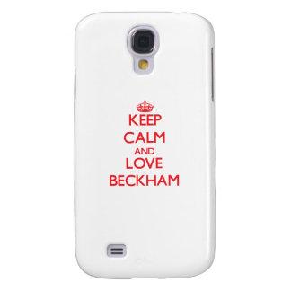 Guarde la calma y ame Beckham Funda Para Galaxy S4