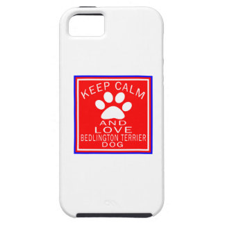 Guarde la calma y ame Bedlington Terrier iPhone 5 Case-Mate Protector