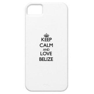 Guarde la calma y ame Belice iPhone 5 Cárcasa