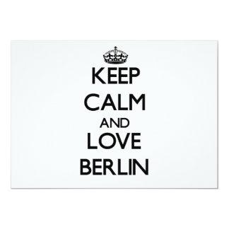 Guarde la calma y ame Berlín Invitación 12,7 X 17,8 Cm