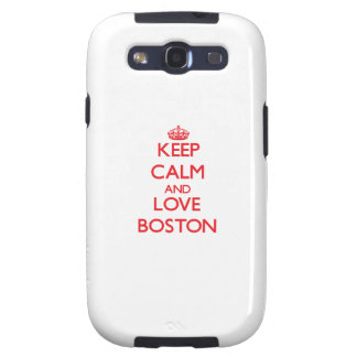 Guarde la calma y ame Boston Galaxy S3 Protector