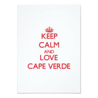 Guarde la calma y ame Cabo Verde Invitacion Personalizada