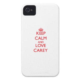 Guarde la calma y ame Carey iPhone 4 Case-Mate Coberturas