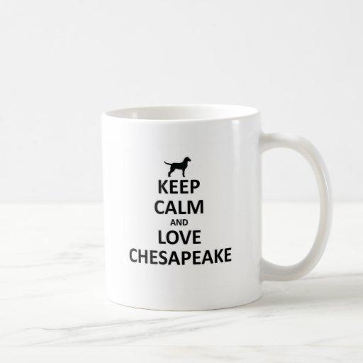 Guarde la calma y ame chesapeake.jpg taza de café