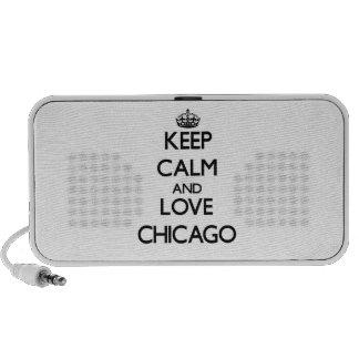 Guarde la calma y ame Chicago PC Altavoces