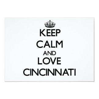 Guarde la calma y ame Cincinnati