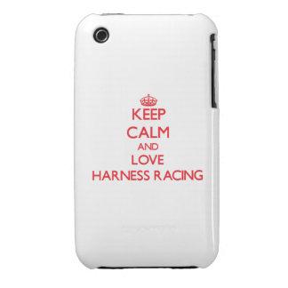Guarde la calma y ame competir con de arnés iPhone 3 Case-Mate cárcasa
