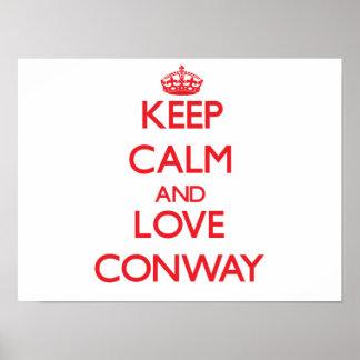 Guarde la calma y ame Conway Impresiones