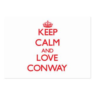 Guarde la calma y ame Conway Plantillas De Tarjetas De Visita