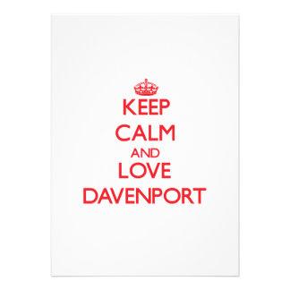Guarde la calma y ame Davenport Anuncios