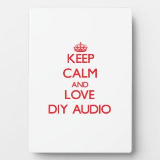 Guarde la calma y ame el audio de Diy Placas Con Foto