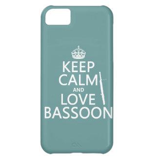Guarde la calma y ame el Bassoon cualquier color