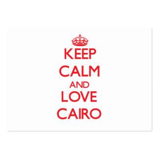 Guarde la calma y ame El Cairo Tarjetas De Visita