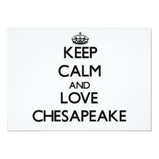 Guarde la calma y ame el Chesapeake Comunicados Personales
