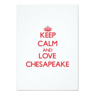 Guarde la calma y ame el Chesapeake Invitacion Personal