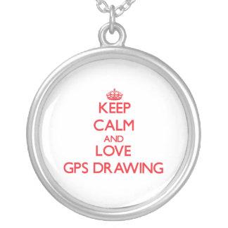 Guarde la calma y ame el dibujo de los Gps Collar Personalizado