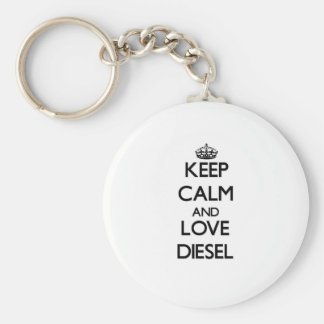 Guarde la calma y ame el diesel llavero