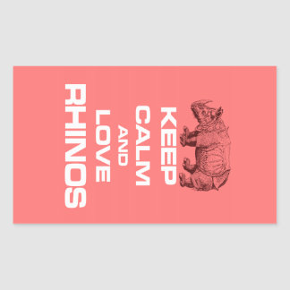 Guarde la calma y ame el diseño fresco del rinocer rectangular altavoces