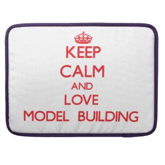 Guarde la calma y ame el edificio modelo funda macbook pro