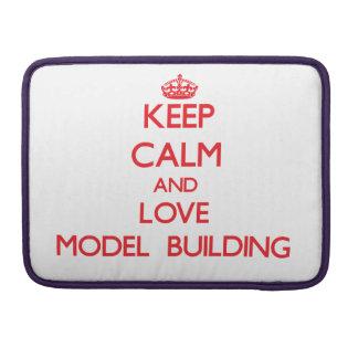 Guarde la calma y ame el edificio modelo funda para macbook pro