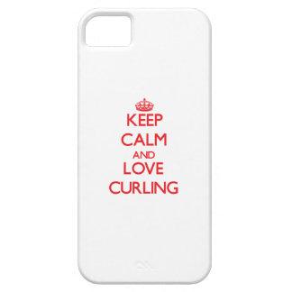 Guarde la calma y ame el encresparse iPhone 5 Case-Mate protector