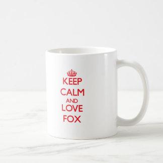 Guarde la calma y ame el Fox Taza De Café