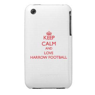 Guarde la calma y ame el fútbol de la grada iPhone 3 cobertura