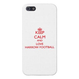 Guarde la calma y ame el fútbol de la grada iPhone 5 coberturas