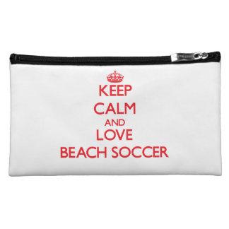 Guarde la calma y ame el fútbol de la playa