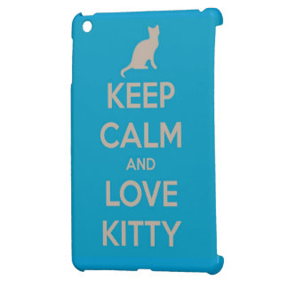 Guarde la calma y ame el gatito iPad mini protectores