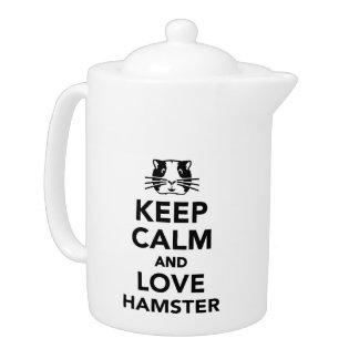 Guarde la calma y ame el hámster