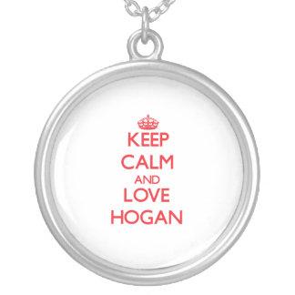 Guarde la calma y ame el Hogan Colgantes