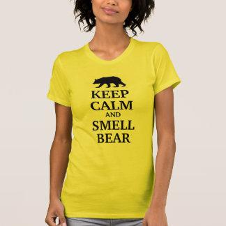 Guarde la calma y ame el oso del olor polera