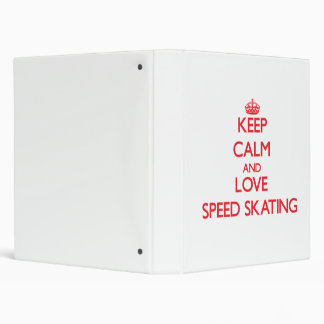 Guarde la calma y ame el patinaje de velocidad