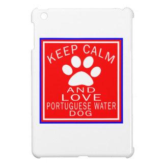 Guarde la calma y ame el perro de agua portugués