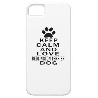 Guarde la calma y ame el perro de Bedlington Terri iPhone 5 Funda